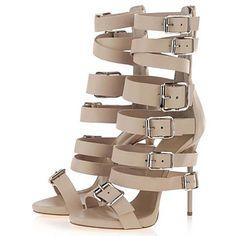 Suede Women's Stiletto Heel Heels Sandals Shoes with Buckle – EUR € 74.24