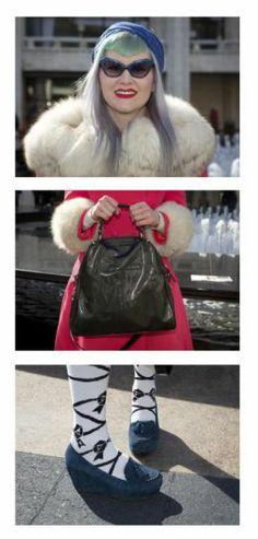 Schräge Vögel, Style-Queens & Mode-Aficionados abseits der New Yorker Modewoche: Sara Bender aus Florida. Mehr dazu hier: http://www.nachrichten.at/nachrichten/society/New-Yorker-Fashion-Week-gestartet;art411,1299849 (Bild: Reuters)