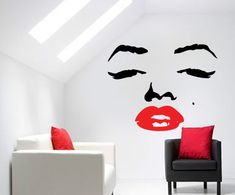 Marilyn Monroe Stencil | RETRO MARILYN MONROE FACE WALL TRANSFER VINYL ART DECAL GRAPHICAL