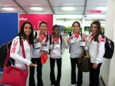 The US Gymnastics Olympic team in London!