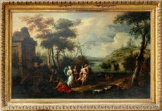 Italian School Early 18th C. Old Master 'The Nymphs of Nysa' | FREDERICK FINE ART