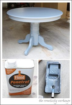 Tips and tricks for working with oil based paint to create a flawless and extra durable finish on high traffic furniture pieces.  {The Creativity Exchange}