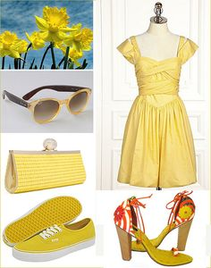 Cute yellow dress for a garden party #candigardenparty