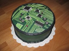 Circuit Board A birthday cake for a guy who builds his own computers. Birthday Cakes For Men, Themed Birthday Cakes, Cakes For Boys, Birthday Ideas, Happy Birthday, Cake Central, Beautiful Cakes, Amazing Cakes, Cake Decorating Techniques