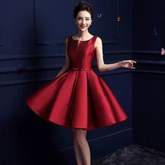 Cheap 2015 nuevo diseño de una línea de vestidos cortos v apertura del partido…