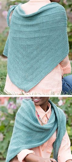"Knitting Pattern for Holmes Shawl - This triangular shawl features concentric triangles made in textured stitches. Finished Size 70"" wingspan and 22.5"" tall. Rated easy by Ravelrers and by Interweave. Designed by Sierra Morningstar"
