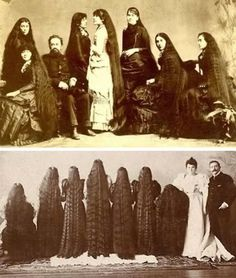 World's Most Amazing Real Life Rapunzels long hair, world record, rapunzel, dreadlocks is part of braids - If you think that Rapunzel is just a fairy tale invented by the Brothers Grimm, you must see this article about people with extremely long hair Vintage Hairstyles For Long Hair, Victorian Hairstyles, Super Long Hair, Big Hair, Fotografia Retro, Natural Hair Styles, Long Hair Styles, Braids For Long Hair, Beautiful Long Hair
