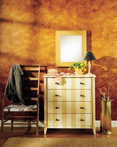 Renew your walls and furniture with faux painting.