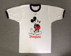 bf4e5af506a MICKEY MOUSE Shirt 70 s Vintage  NEW Unworn Original Walt Disney Tropix  Togs 1970 s Ringer Tshirt  Shrinkage Controlled UsA Made