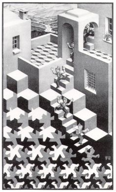 Escher art | Escher // Cycle Art Print