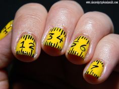 Measuring Tape Nails...idea for Katie when she starts working with special education children,