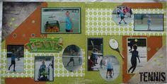 tennis+scrapbook+pages | tennis scrapbook page | Scrapbooking