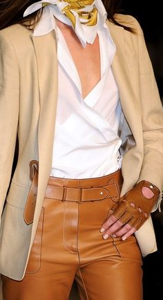 Hermes--I could never wear leather pants, but these almost look comfortable. I bet they cost a fortune!