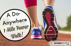 This one-mile indoor power walking workout will help you stick with your walking routine no matter what time of day or night it is--or what the weather is like outside! Best Workout Songs, Plantar Fasciitis Exercises, Walking Meditation, Meditation Buddhism, Power Walking, Race Training, Training Equipment, Lose 50 Pounds, 10 Pounds