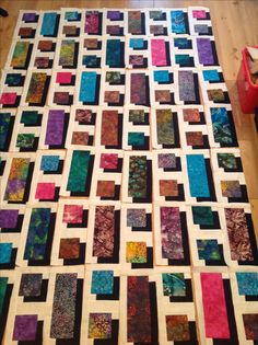 Shadow box quilt, still in pieces. No pattern.