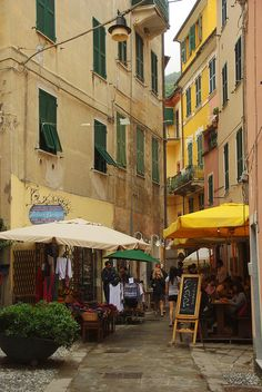 Monterosso, Italy - Had dinner at that restaurant outdoors on a gorgeous warm evening. Gargantuan prawns!  What a memory!