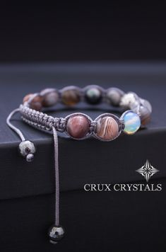 Lava natural Negro y Marrón Frost Tibetano Con cuentas Pulsera perlas de apilamiento 8mm