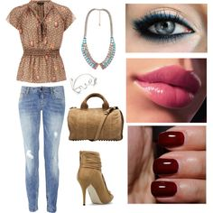 """I just threw something on..."" by threadinducedeuphoria on Polyvore"