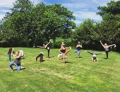 Tanya- B yoga statues! @tbnewyork @jaimelugoyoga @pureyoganyc @annachung1 @yogatweet @yogaeverydamnday