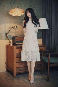 Milkcocoa Korean Fashion Dress, Ulzzang Fashion, Korean Outfits, Japanese Fashion, Asian Fashion, Look Fashion, Fashion Dresses, Classy Outfits, Pretty Outfits