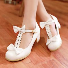 Kawaii bow princess shoes