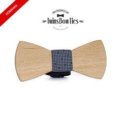 Wooden bow tie BOGDAN Claccic. 100 handicraft por TwinsBowties, $39.00