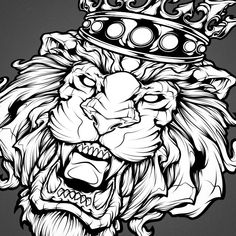New lion illustration. #art #lion #mangastudio #ink #tattoo #absorb81 #crown…