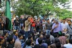HMI Cabang Gowa Raya Bantah Kadernya Bawa Badik Saat Aksi Tolak Kedatangan Jokowi