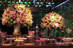 Fotografias da decoração de casamento para empresa Casório Perfeito RJ.