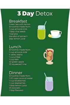 Breakfast Smoothie Recipes, Weight Loss Smoothie Recipes, Fruit Smoothie Recipes, Smoothie Drinks, Smoothie Diet, Detox Drinks, Healthy Juice Recipes, Healthy Detox, Healthy Juices