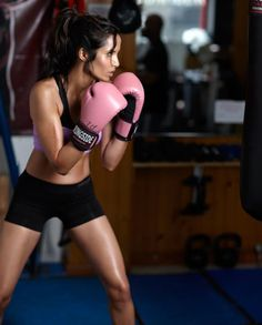 Such a great workout...even better with pink gloves!