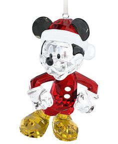 Swarovski Christmas Ornament, Mickey Mouse