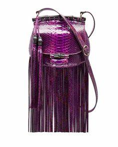Nouveau Python Fringe Shoulder Bag, Purple by Gucci at Neiman Marcus. - Love it!  If I were a rich girl...