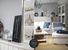 Wohnzimmer maritim flair beistelltisch pastellgr n gelb yellow livingrooms pinterest - Maritimes wohnzimmer ...