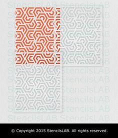 Geometrische Malerei-Schablone für die von StencilsLabNY auf Etsy
