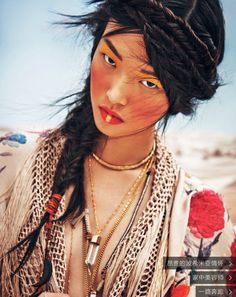 Vogue China March 2015   Tian Yi by Jem Mitchell [Beauty]