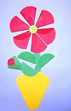 Origami-kwiaty z kółek
