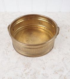 Vintage Brass Hosley Planter Pot - Kitchen Bowl ~ Knick Knack Dish ~ Brass Container ~ Shabby Chic Cottage Decor by injoytreasures on Etsy