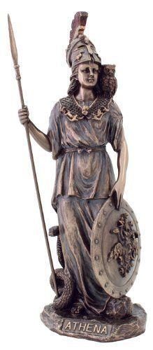 Athena Statue - Goddess of Wisdom, War, & the Arts - Greek Mythology -