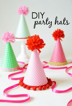 DIY Party Hats - perfect addition to your child's party and love that you can customize for the look you want!