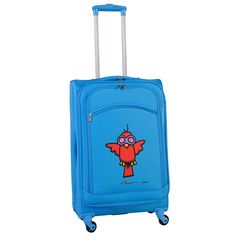 bb1880940 Ed Heck Sky Aviator 24-inch Spinner Upright Suitcase Blue Aviators, Luggage  Bags,
