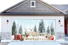 christmas garage door covers 3d banners outside house decorations outdoor gd28