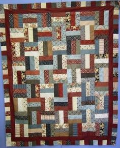 jelly roll quilt patterns | Rail Jelly Roll Quilt. Using one Jelly Roll you can make this quilt ...