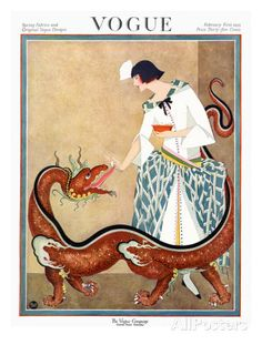Vogue Cover - February 1923 Regular Giclee Print par George Wolfe Plank sur AllPosters.fr
