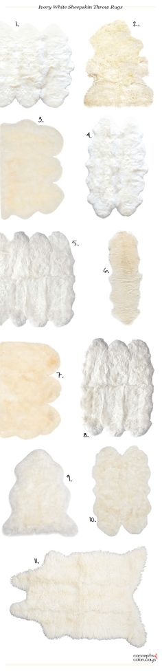 ivory white sheepskin throw rugs, interiors product roundup, get the look Sheepskin Throw, Home Pictures, Ivory White, Interior Design Tips, Throw Rugs, Scandinavian Style, Accent Pieces, Little Babies, Decorating Your Home