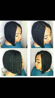 Available in different colors # Braids africaines short Braided wig/Bob braided wig/box braided wig Braids Bob Style, Bob Box Braids Styles, Short Braids, Box Braids Styling, Bob Styles, Braid Styles, Short Hair Styles, Bridal Hairstyles With Braids, Braided Hairstyles For Black Women