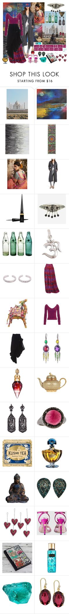 """Take me to Mumbai!!"" by billiej-712 ❤ liked on Polyvore featuring NOVICA, Leith, Christian Louboutin, Rock 'N Rose, Emanuel Ungaro, Kansai Yamamoto, Holly Dyment, Amrapali, Bavna and Kusmi Tea"