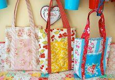 Kostenlose Anleitungen genähte Taschen (free bag patterns)
