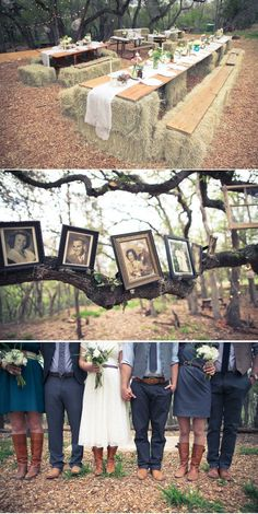 This is sooo adorable!  I love the hay bale tables!