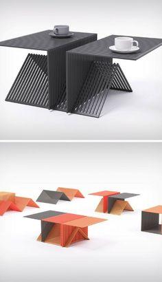 Single-Component Furniture Designs - The 'Grate Module' Makes Furniture Using Minimal Materials